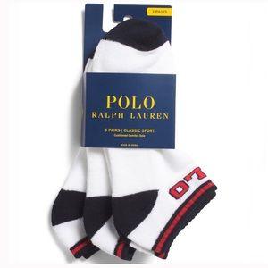 🆕 Polo Ralph Lauren Classic Sport Socks 3 Pack